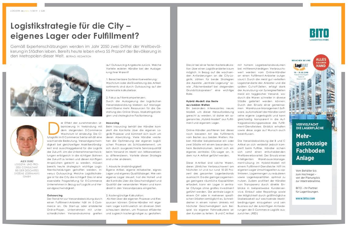 Fulfillment oder eigenes Lager – welche Logistikstrategie ist die beste für die City?