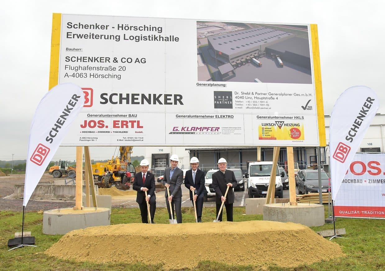 Spatenstich: DB Schenker baut um 7 Mio. Euro in Linz aus