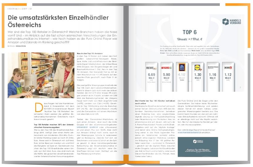 Die umsatzstärksten Einzelhändler Österreichs