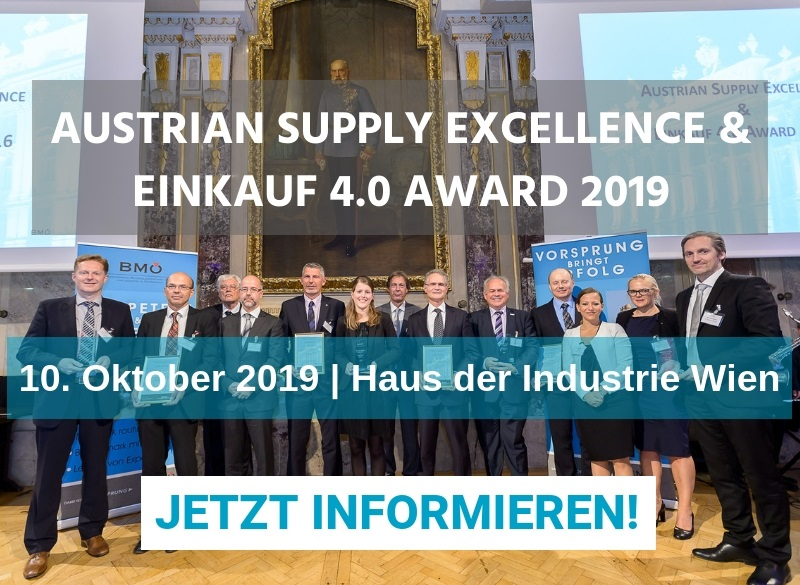 Ausschreibung: BMOE vergibt Supply Excellence Awards 2019