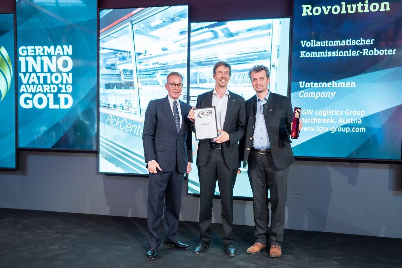 TGW gewinnt German Innovation Award 2019 in Gold
