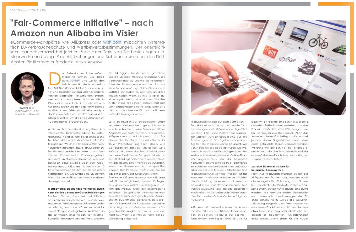 """Fair-Commerce Initiative"" – nach Amazon nun Alibaba im Visier"