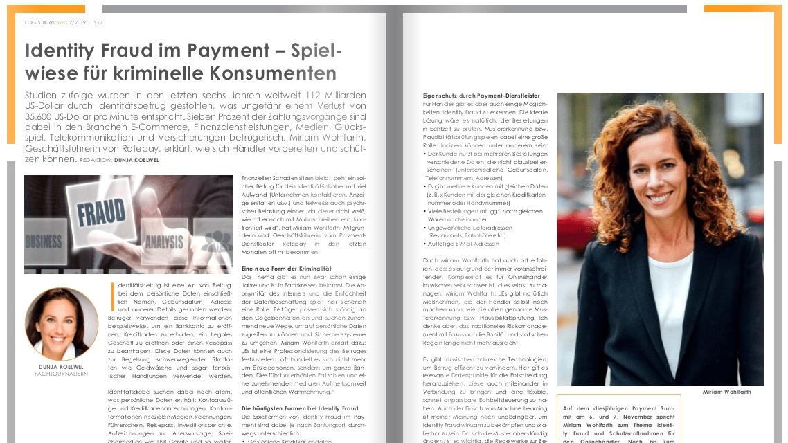 Identity Fraud im Payment – Spielwiese für kriminelle Konsumenten