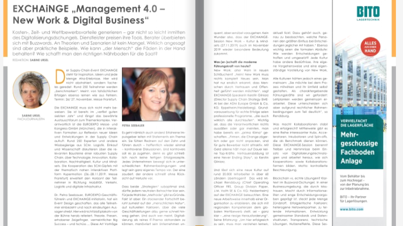 "EXCHAiNGE ""Management 4.0 – New Work & Digital Business"""