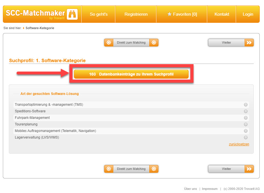 Kostenfreie Software-Recherche Plattform in der Logistik