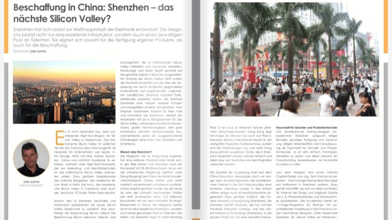 Beschaffung in China: Shenzhen – das nächste Silicon Valley?