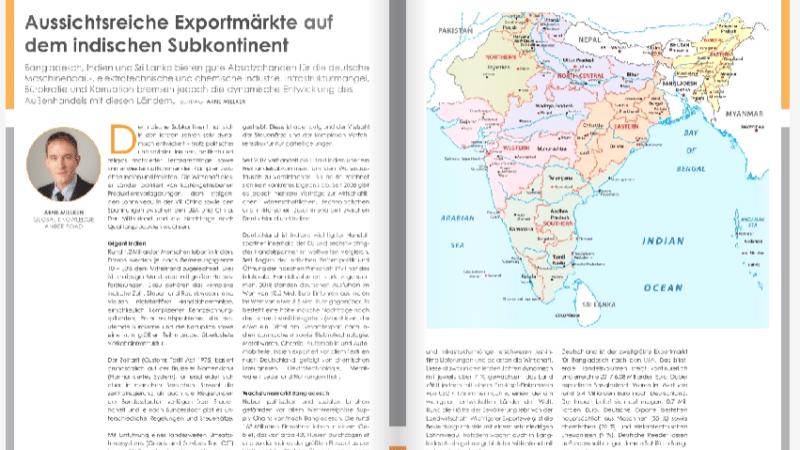 Aussichtsreiche Exportmärkte auf dem indischen Subkontinent