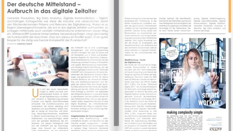 Der deutsche Mittelstand –   Aufbruch in das digitale Zeitalter