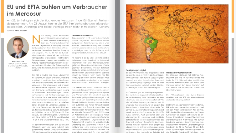 EU und EFTA buhlen um Verbraucher im Mercosur