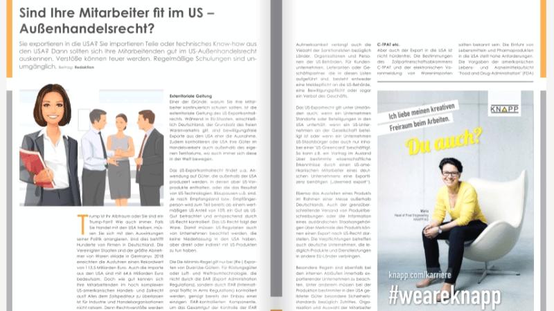 Sind Ihre Mitarbeiter fit im US – Außenhandelsrecht?