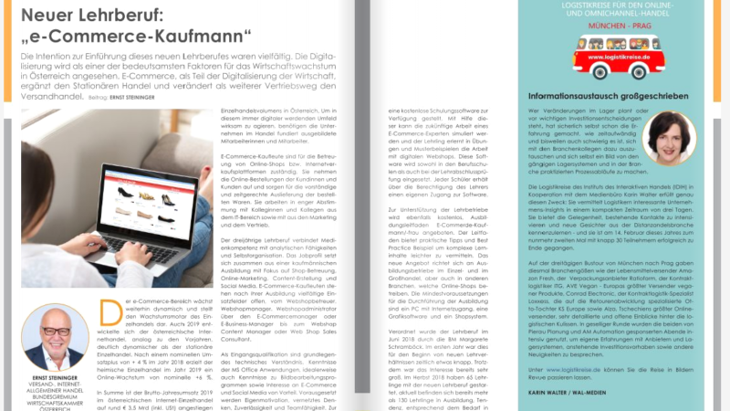 "Neuer Lehrberuf: ""e-Commerce-Kaufmann"""