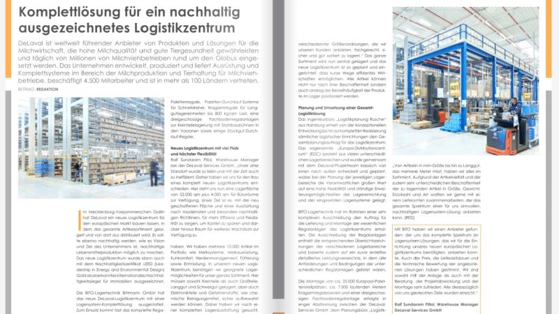 Komplettlösung für ein nachhaltig ausgezeichnetes Logistikzentrum