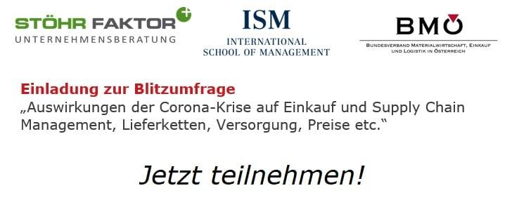 """Blitzumfrage """"Auswirkungen der Corona-Krise auf Einkauf und Supply Chain Management"""""""