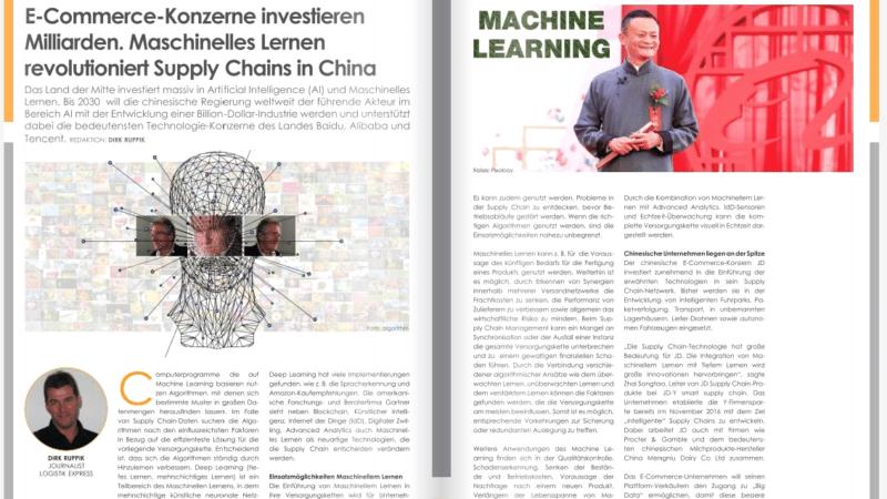 E-Commerce-Konzerne investieren Milliarden. Maschinelles Lernen revolutioniert Supply Chains in China