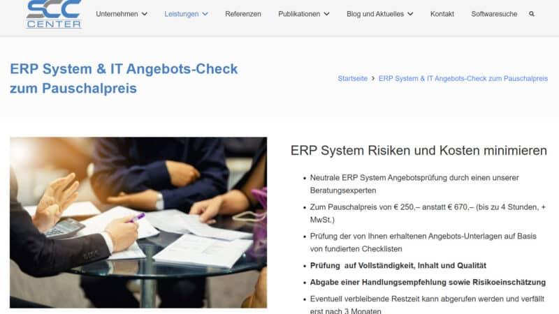 ERP System & IT Angebots-Check für Digitalisierungsprojekte zum Pauschalpreis durch das SCC-Center