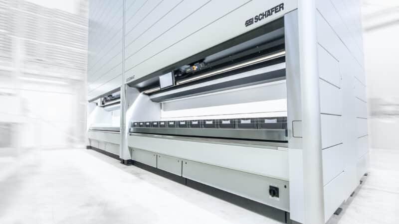 SSI Schäfer erhält Auftrag von Koenig & Bauer für Lagerlifte SSI LOGIMAT®