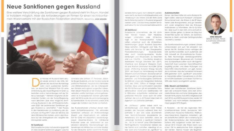 Neue Sanktionen gegen Russland