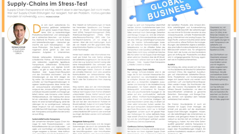 Supply-Chains im Stress-Test