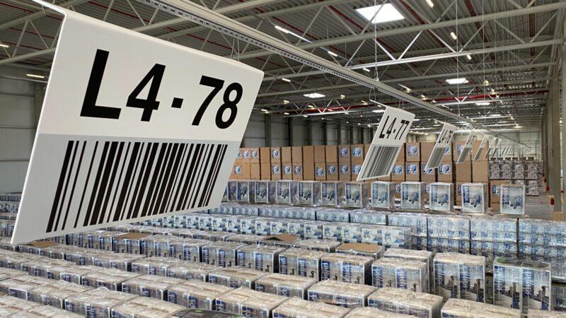 Lagerkennzeichnung im neuen Logistikzentrum von Scheppach
