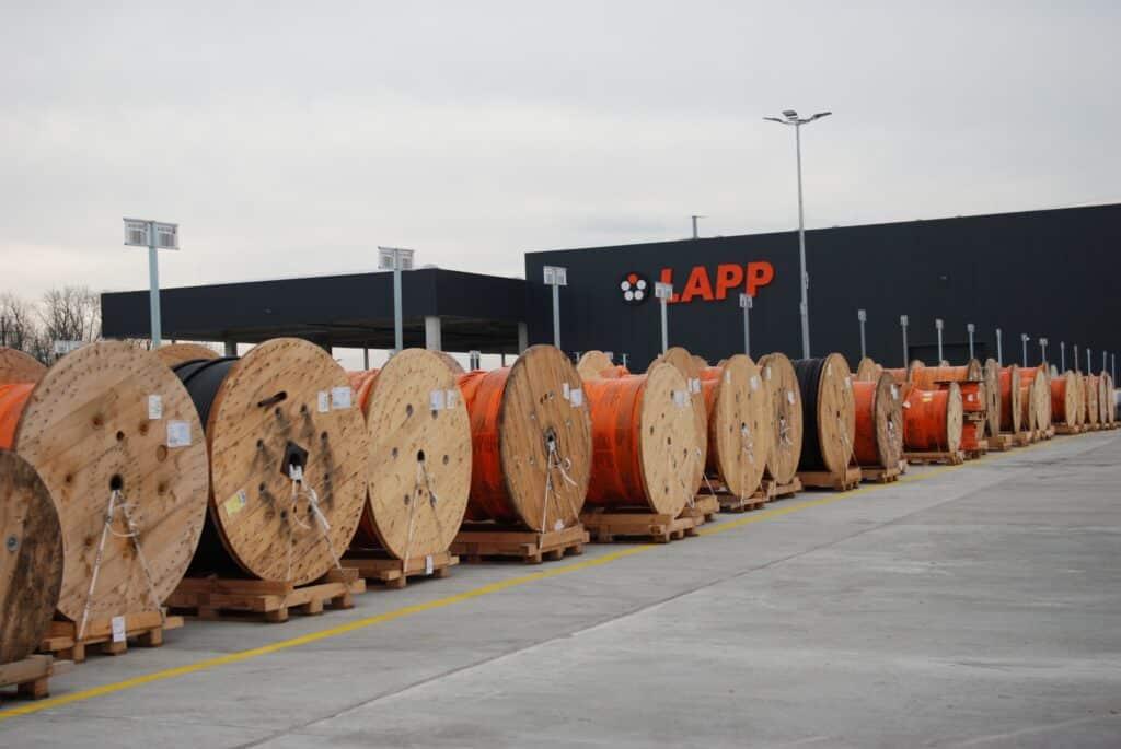 ONK kennzeichnet Freilager der U.I. Lapp GmbH