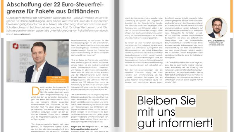 Abschaffung der 22 Euro-Steuerfreigrenze für Pakete aus Drittländern