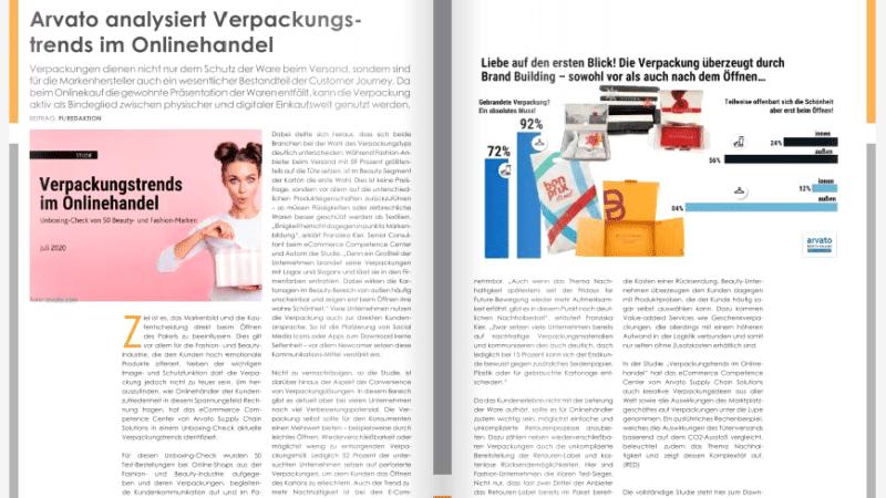 Arvato analysiert Verpackungstrends im Onlinehandel