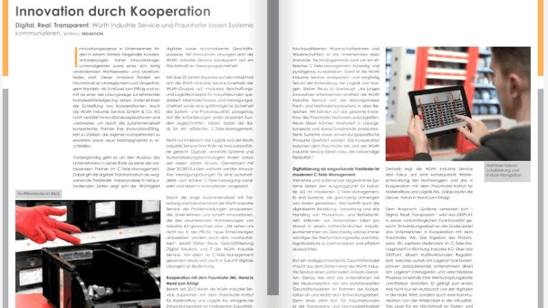 Würth Industrie Service und Fraunhofer lassen Systeme kommunizieren