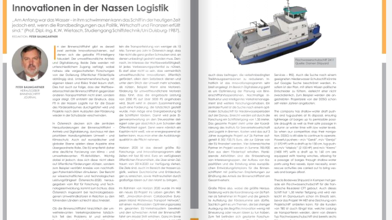 Innovationen in der Nassen Logistik