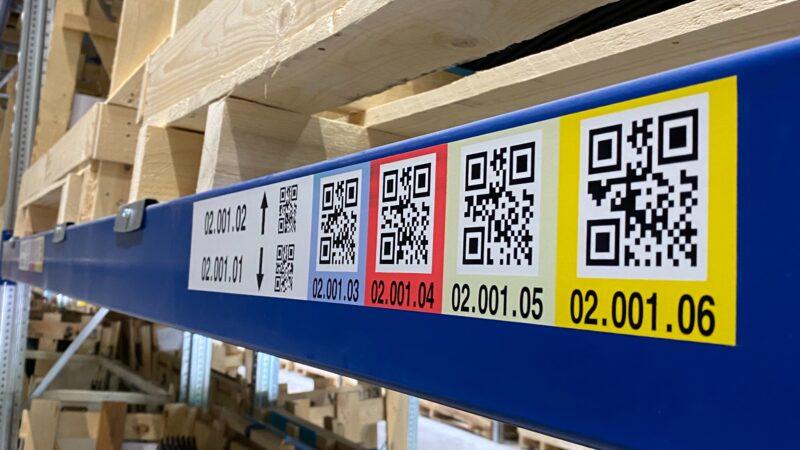 2D-Code-Etiketten für IoT-automatisierte Intralogistik