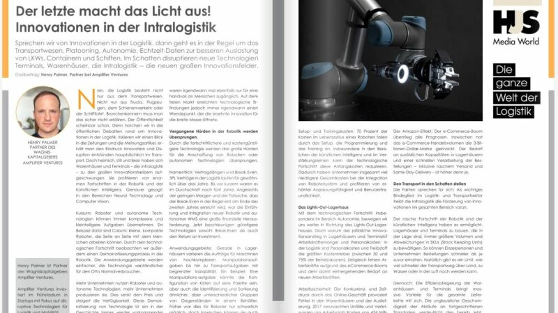 Der letzte macht das Licht aus!  Innovationen in der Intralogistik.