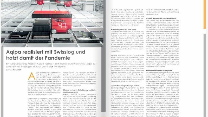 Aqipa realisiert mit Swisslog und trotzt damit der Pandemie