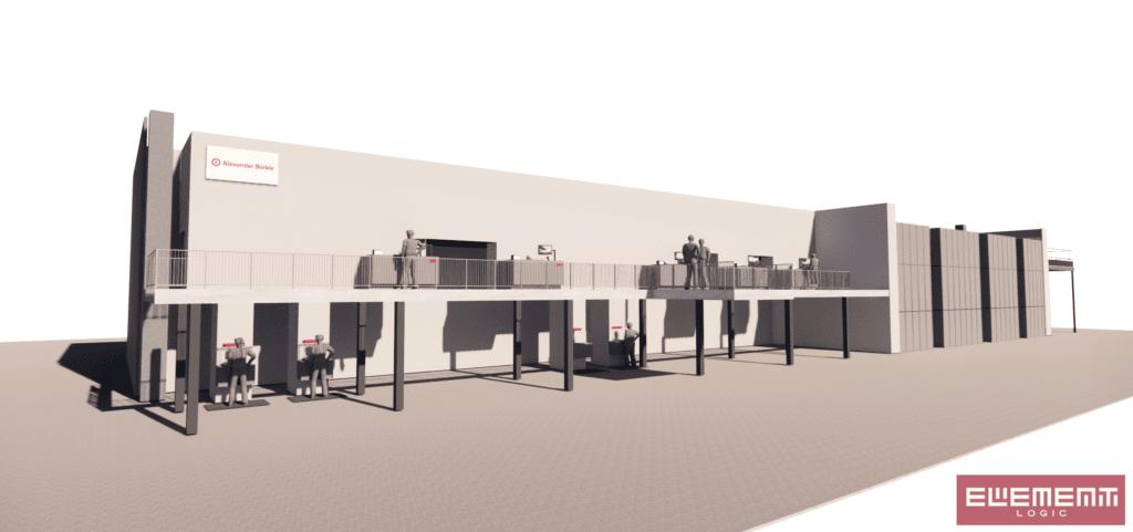 3D Visualisierung AutoStore Anlage