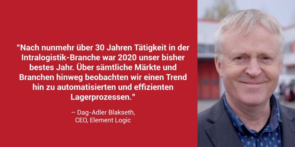 Dag-Adler Blakseth Statement Element Logic CEO