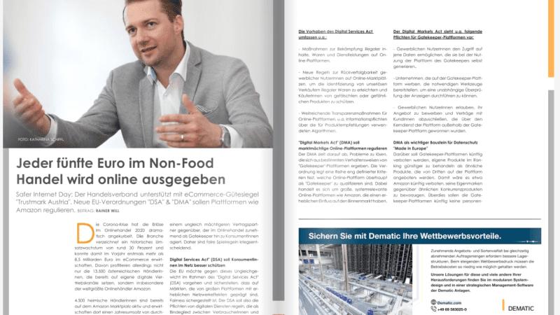 Jeder fünfte Euro im Non-Food Handel wird online ausgegeben