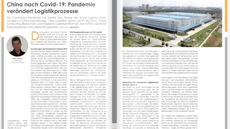 China nach Covid-19: Pandemie verändert Logistikprozesse