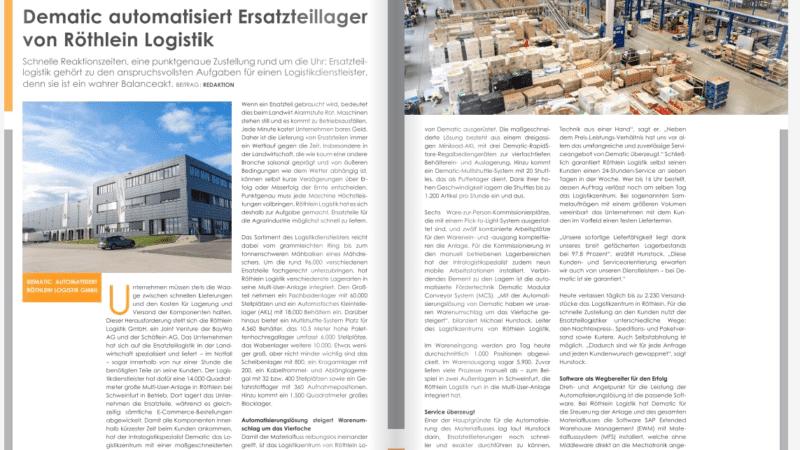 Dematic automatisiert Ersatzteillager von Röthlein Logistik