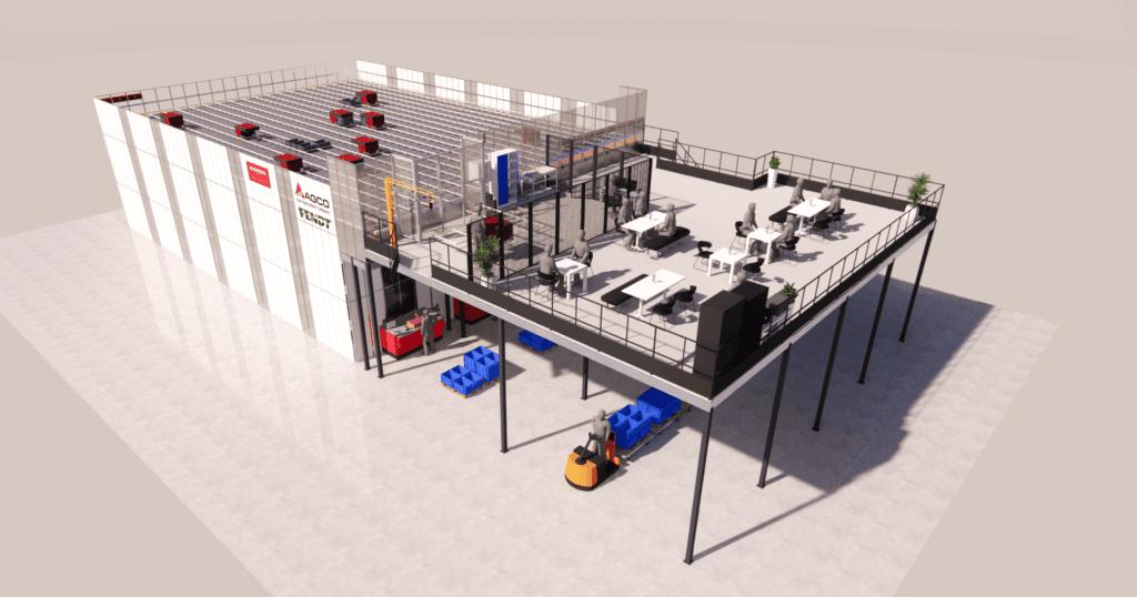 3D Visualisierung AutoStore-Anlage
