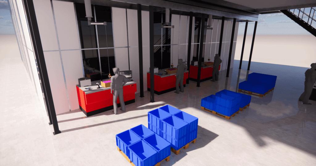 3D-Visualisierung AutoStore-System Port