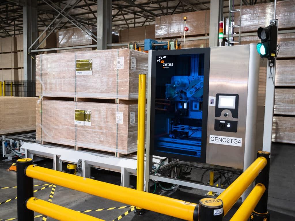 Automatische Etikettierung von 1.400 Palettenstapel pro Tag