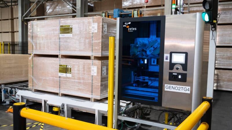 Norbord automatisiert Etikettierung von mehreren hundert Paletten pro Tag mit ZetesAtlas