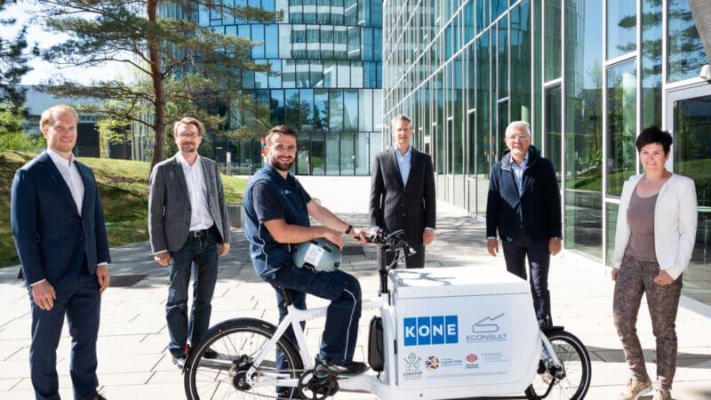 KONE AG und ECONSULT testen in Wien die CO₂-freie Belieferung von TechnikerInnen