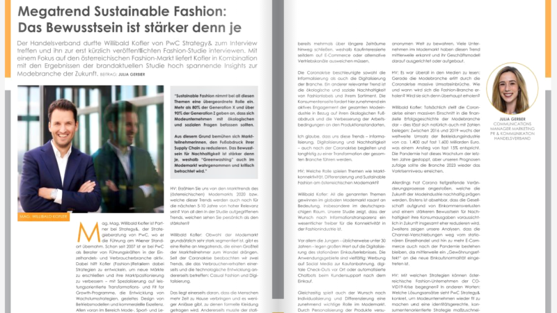 Megatrend Sustainable Fashion: Das Bewusstsein ist stärker denn je