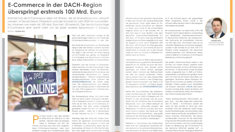 E-Commerce in der DACH-Region überspringt erstmals 100 Mrd. Euro