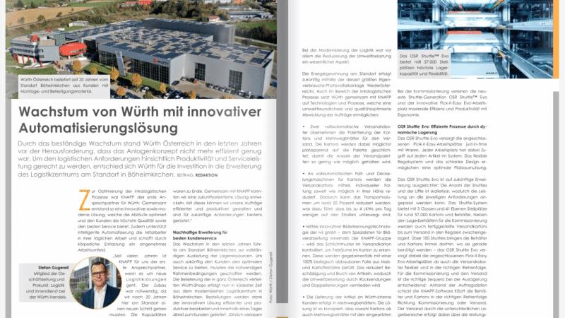 KNAPP: Wachstum von Würth mit innovativer Automatisierungslösung