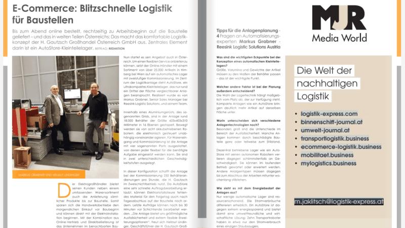 Reesink Logistic Solutions: E-Commerce – Blitzschnelle Logistik für Baustellen