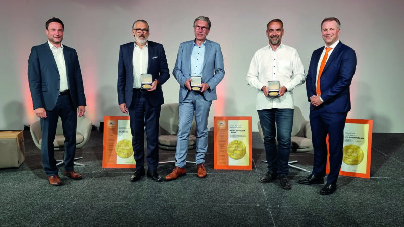 KNAPP-Arbeitsplatz ivii.smartdesk von LogiMAT als Bestes Produkt 2021 ausgezeichnet