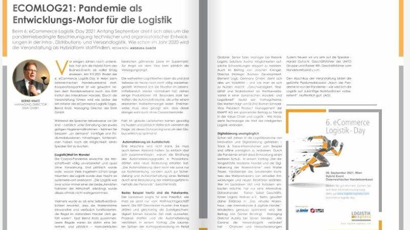 ECOMLOG21: Pandemie als  Entwicklungs-Motor für die Logistik