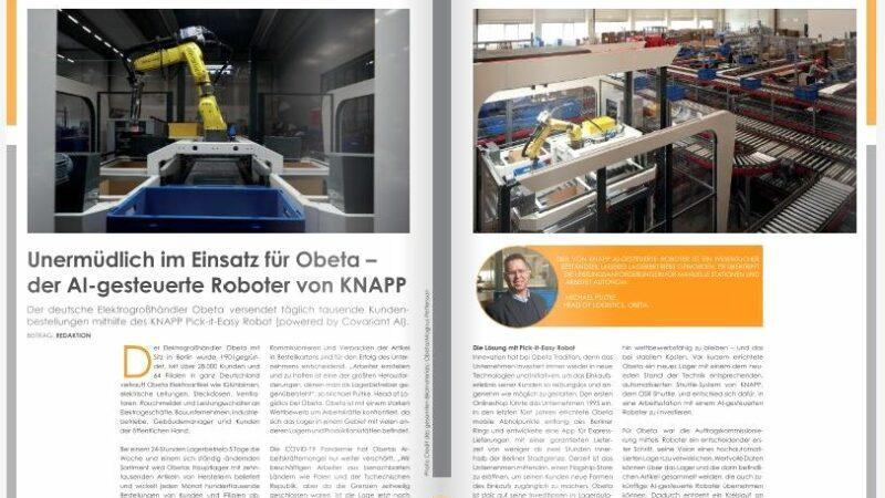 Unermüdlich im Einsatz für Obeta –  der AI-gesteuerte Roboter von KNAPP