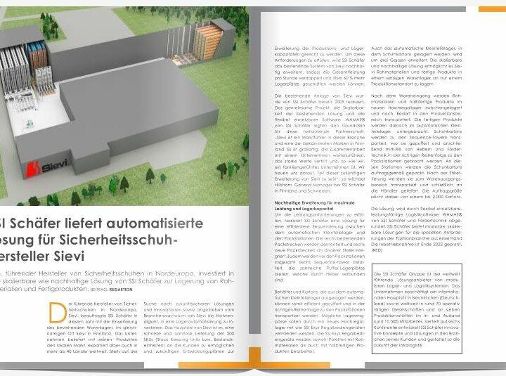 SSI Schäfer liefert automatisierte Lösung für Sicherheitsschuh-Hersteller Sievi