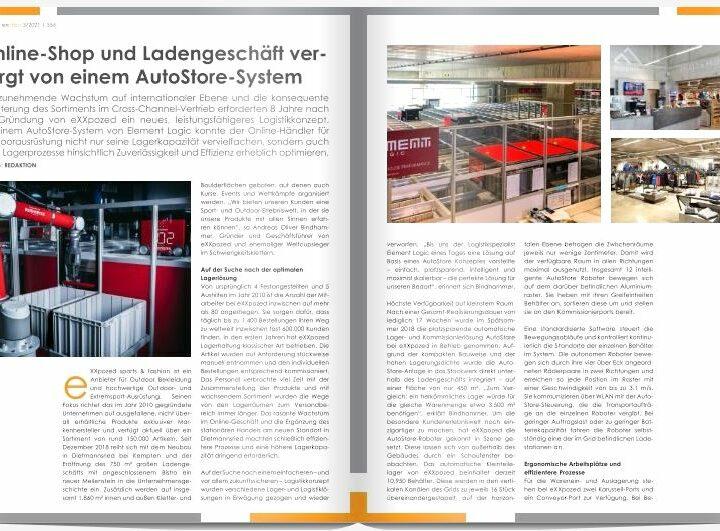 Online-Shop und Ladengeschäft versorgt von einem AutoStore-System